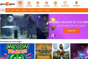 Gioco Digitale casino online: 100 free spins alla registrazione