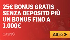 Betfair casino: 25€ di bonus senza deposito